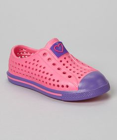 Look at this #zulilyfind! Stepping Stones Pink & Purple Rubber Sneaker by Stepping Stones #zulilyfinds