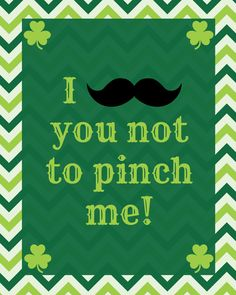 Mustache St. Patricks Day Printable - FREE at BargainBriana.com