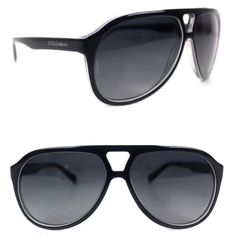 6521304cc8 Dolce   Gabbana Black Aviator Pilot Polarized Sunglasses New Black  Aviators