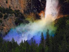 ad147de7508 I m in a colorful mood today. Rainbow Waterfall