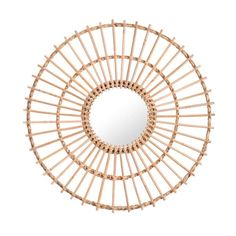 Ronnie Round Rattan Mirror from Kirkland's Oar Decor, Bunk Beds Built In, Young House Love, Round Mirrors, Wall Mirrors, Mirror Mirror, How To Make Diy, Painted Doors, Wall Spaces