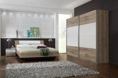 Wimex Schlafzimmer-Set, 180 x 200 cm New Yorker Loft, Clothes Rail, Mirror Door, Framing Materials, Types Of Wood, Upholstery, Shelves, Bedroom, Modern