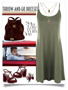 """""""Throw and Go Dresses"""" by easy-dressing ❤ liked on Polyvore featuring Justin Bieber, Dune, WearAll and Chanel"""