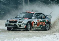 The encouraging debut of the Hyundai Accent WRC in Sweden in 2000