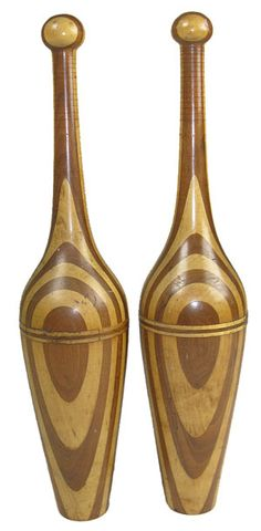 Unusual shaped Indian Clubs