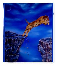 Fleece blanket, bed decor, home,accessories,bedroom,decor,cool,unique,fancy,artistic,trendy,unusual,awesome,beautiful,modern,fashionable,design,for,sale,items,products,ideas,blue,tiger,wildlife, fine art america
