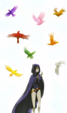 Summer Challenge: Crows Raven from Teen Titans, one of my favorite cartoons ever. I've always wanted to draw a finished piece of this character, she's full of awesome. This picture will probab. Colors Of Raven, Raven Cosplay, Raven Beast Boy, Original Teen Titans, Disney Pixar, Hq Dc, Teen Titans Go, Comics Universe, Young Justice