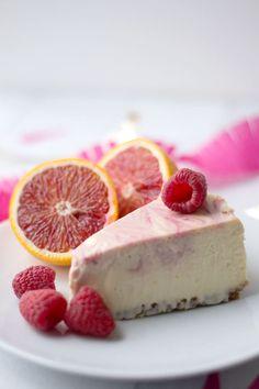 Blood Orange & Raspberry Cheesecake