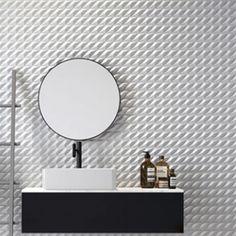 """A Coleção Escamas da Santa Luzia é uma homenagem aos peixes brasileiros. O produto Curimba é um paralelogramo de 14,3cm x 5cm. Busque no Wikeep: """"escamas"""" e veja o que separamos para você! Wikeep - Inspirando Conexões Bathroom, Decor, Furniture, Home, Round Mirror Bathroom, Mirror, Bathroom Mirror, Home Decor"""