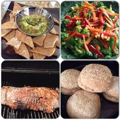 Home made chips/ bread and salad with asado ¡
