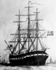 USS Alfred, the US Navy's first flagship, captained by Commodore Esek Hopkins and First Lieutenant John Paul Jones