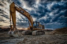 cat excavator by Mike Burgquist