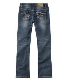 Loving this Dark Wash Tammy Bootcut Jeans - Girls on #zulily! #zulilyfinds