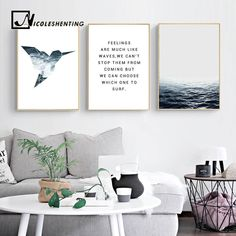 Tropical Sea Bird Motivational Wall Art Canvas Nordic Posters Prints Landscape Painting Wall Pictures for Living Room Home Decor Metal Tree Wall Art, Canvas Wall Art, Wall Art Prints, Poster Prints, Canvas Poster, Abstract Canvas, Poster Wall, Posters, Motivational Wall Art