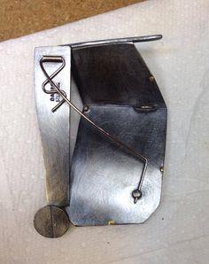 Deborrah Daher, Zax Design | View of pin back and bail.