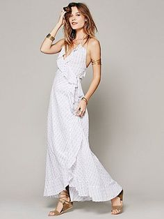I really really wish this wasn't stripes Free People Santorini Wrap Dress