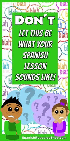 Tons of picture notes here to help your students understand what you're saying!