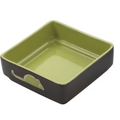 Ethical Pet Products (Spot) CSO6934 Four Square Ceramic Cat Dish, 5-Inch, Green ** Continue with the details at the image link.