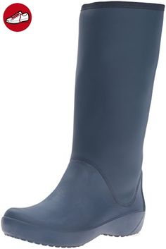 crocs Wellie Rain Boot W 12476-417, Damen Gummistiefel, Blau (Navy/Cranberry 417), EU 42/43