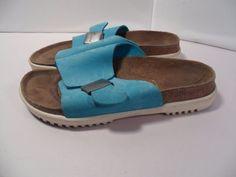 Women's Betula Birkenstock Birkie Slide Sandals Slipon Leather Strap-37 EU 6 US #Betula #Slides #Casual