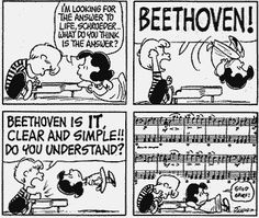It's Beethoven's Birthday! Matthew McAllister Plays the Movement of the Sonata Pathétique – Classical Guitar Piano Music, My Music, Music Jokes, Music Humour, Charlie Brown And Snoopy, Peanuts Gang, Peanuts Comics, Peanuts Cartoon, Music Classroom