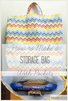 How to Make a Storage Bag With Pockets - Tea and a Sewing Machine