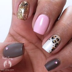 Matte Ombre Leopard Nails by Nail Envy