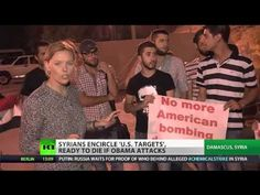 Cannon Fodder: Syrians Form Human Shields Around 'US Strike Targets' - RT - Published on Sep 4, 2013 - As the US thrashes out bombing options, a new movement is becoming stronger among the Syrian people. Activists are gathering outside key strategic facilities expected to be targeted by American strikes. They're calling on Washington to halt its march to war, and insist they're ready to die if it doesn't. RT's Maria Finoshina sent this report from Damascus.