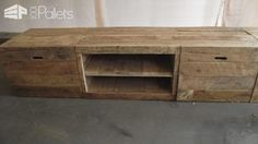 1000 ideas about long tv stand on pinterest tv stand for Diy pallet tv stand instructions