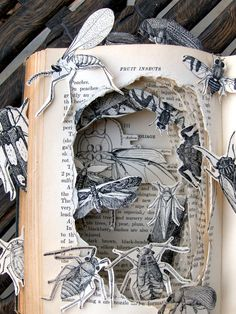 I love altered books but sometimes, when I think of that book that will never be read again, they make me wince...
