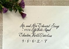 Calligraphy Services for the Bride and by JenniferCarolThomas