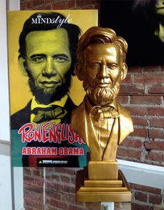 'Abraham Obama' bust by Ron English