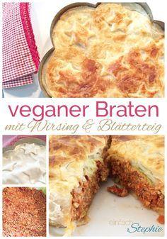 Braten vegan mit Wirsing und Blätterteig