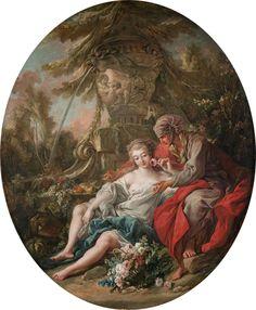 François Boucher (1703-1770), Vertumne et Pomone / Vertumnus and Pomona © Musée du Louvre - A. Dequier