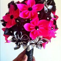 Origami wedding bouquet.