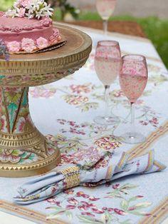Invitation Tablecloth | April's Attic Sale, Linens & Kitchen Attic :Beautiful Designs by April Cornell