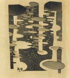 Hannah Höch—Glued Drawing II, 1955