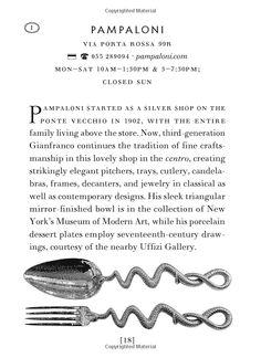 The Cognoscenti's Guide to Florence: Shop and Eat like a Florentine: Louise Fili, Lise Apatoff: 9781616893217: Amazon.com: Books