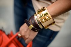 gold studded cuff {love the whole wrist!}