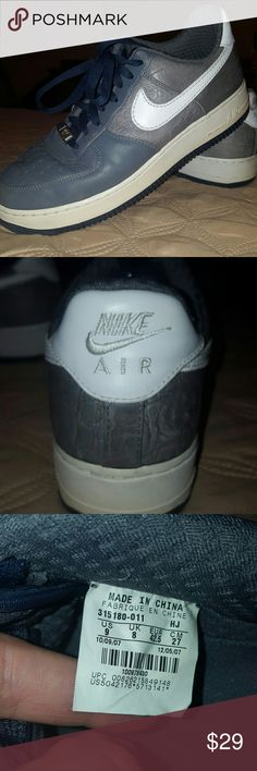 Nike Airforce Ones Gray Nike Airforce Ones. Gray. Used, but minimal signs of wear. Nike Shoes Athletic Shoes