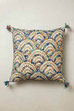 Beaded Scallop Pillow -- love these colors