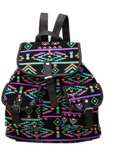 976025b2bb Black Friday Generic New Vintage Floral Ladies Canvas Bag School Bag  Backpack (Black) from other Cyber Monday