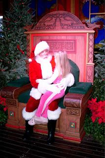 Meeting Santa at Downtown Disney