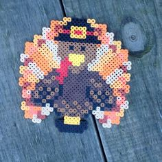 Turkey Thanksgiving perler beads by maries_perlerart
