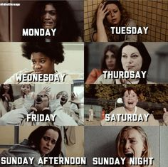 "1,636 Likes, 8 Comments - Orange Is The New Black (@oitnb.memes) on Instagram: ""My week as told by OITNB """