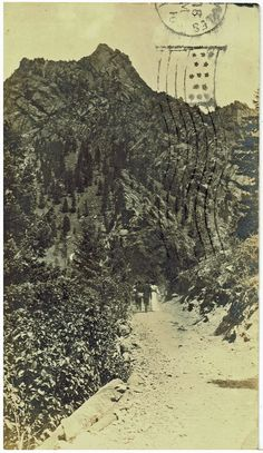 A Mountain Road by Chas. M; Smythe 1911 (Colorado)