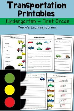 Tons of learning happening in these FREE Transportation Printables. Need more freebies? Click here for a huge selection of Free Hom