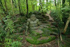 visitheworld:  Poseidon sculpture in Mondo Verde Gardens, Limburg, The Netherlands (by Walraven).
