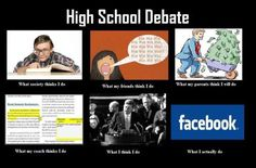 Debate---this is SO freaking accurate.  Except I'm actually not on FB ALL that much... XD