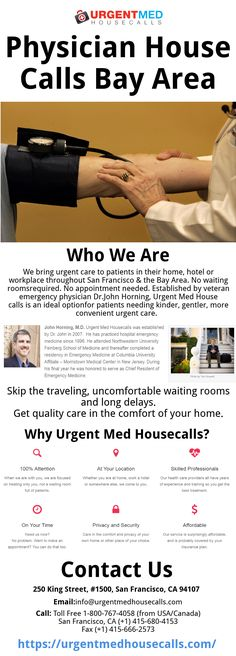 Pin by Urgentmedhousecallsseo on Bay Area House Call